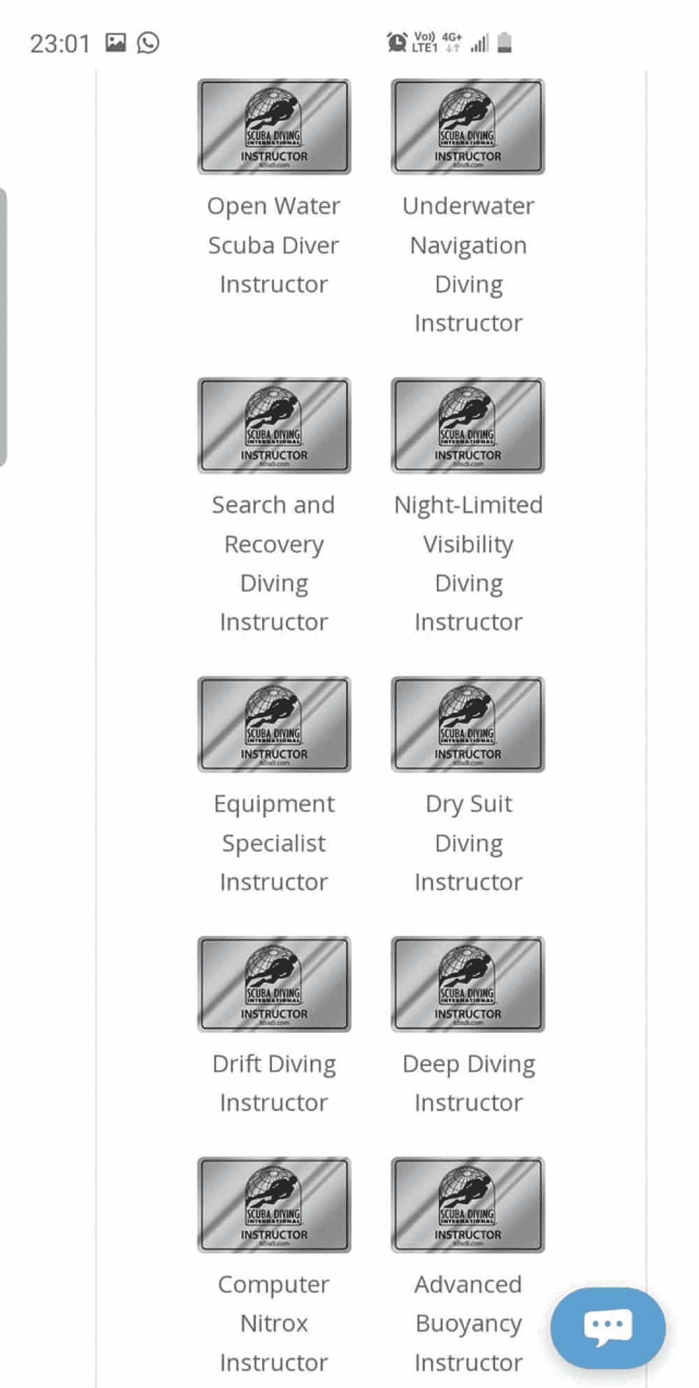 潛水課程潛水牌